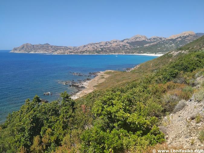 fotos playa ostriconi córcega