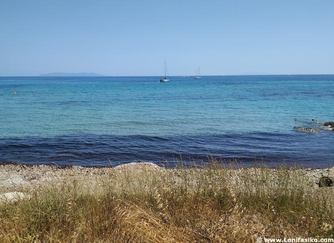 Playa de Tamarone en Cap Corse