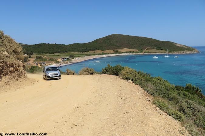 Playa de Tamarone Córcega cómo llegar en coche