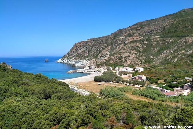 Playas Cabo Corso norte de Córcega