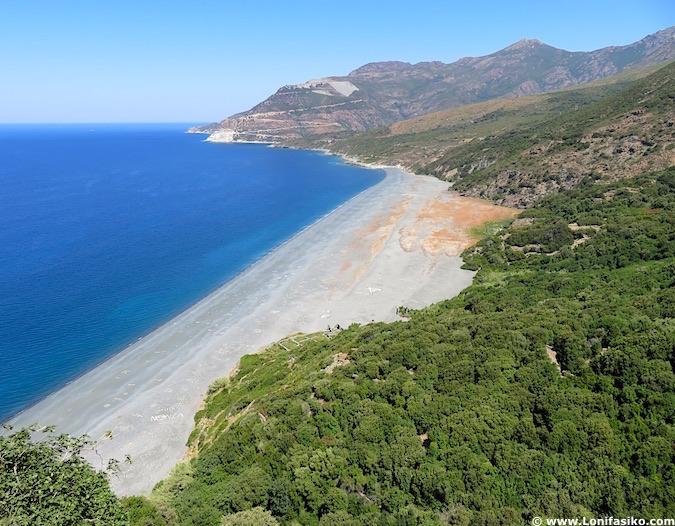 Playas en Cap Corse Nonza