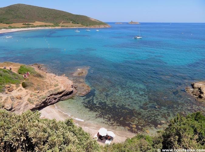 Playas de Córcega Tamarone Cap Corse