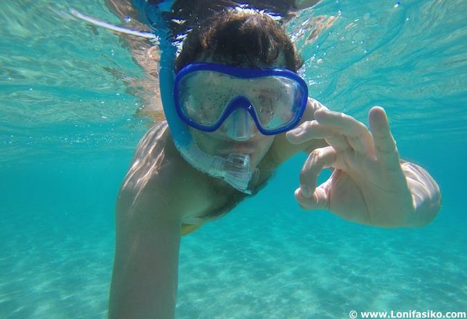snorkel en Córcega