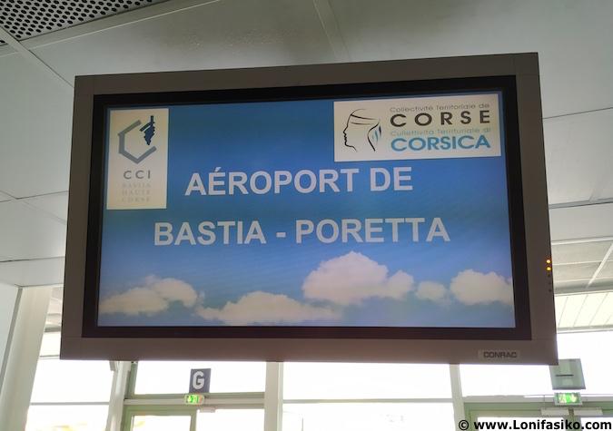 Vuelos a Córcega al aeropuerto de Bastia
