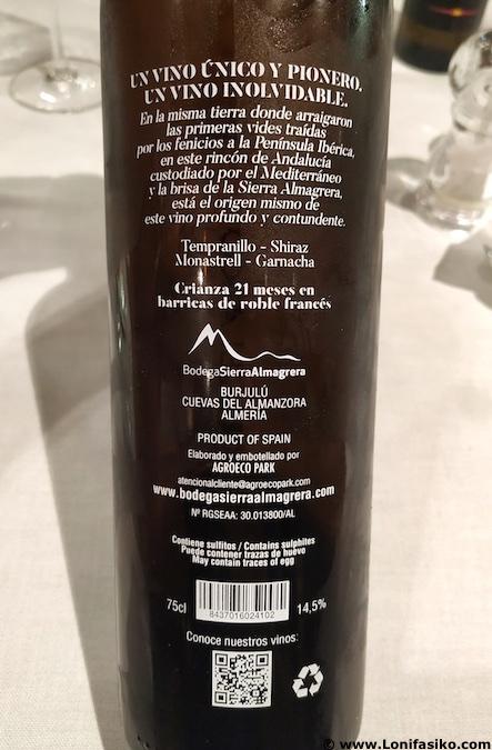 Caballo Blanco vino tinto de Almería