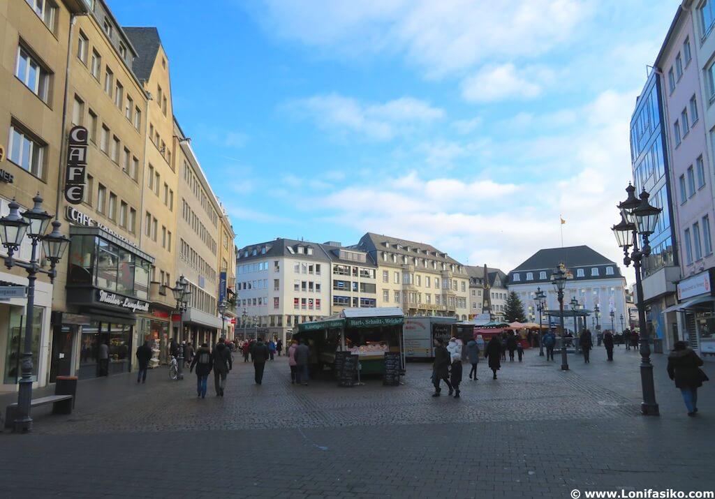 Plazas de Bonn en Alemania Marktplatz