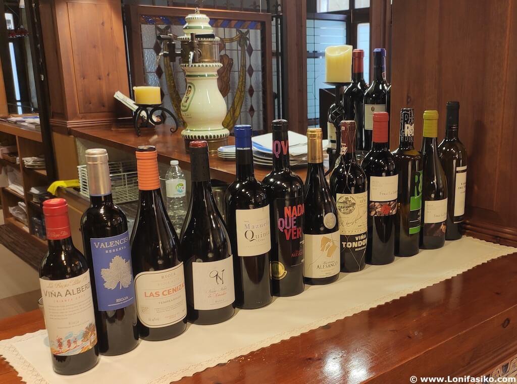 Carta vinos restaurante los caballeros santo domingo de la calzada