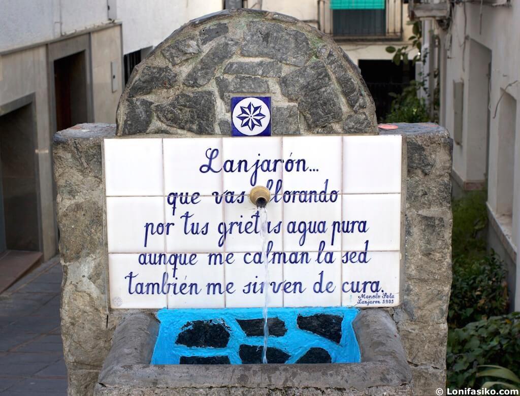 Lanjarón fuentes de agua en Granada