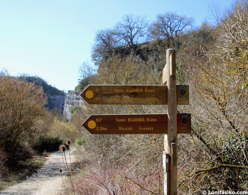 senderismo parque natural izki