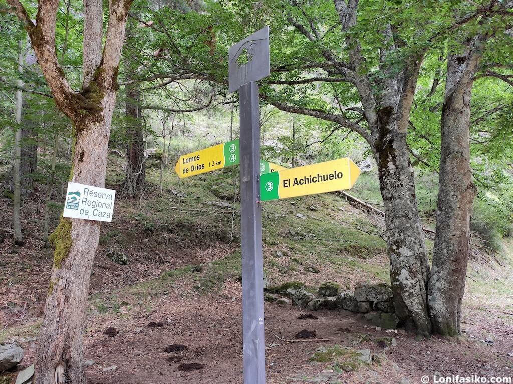 ruta el achichuelo sierra de cebollera