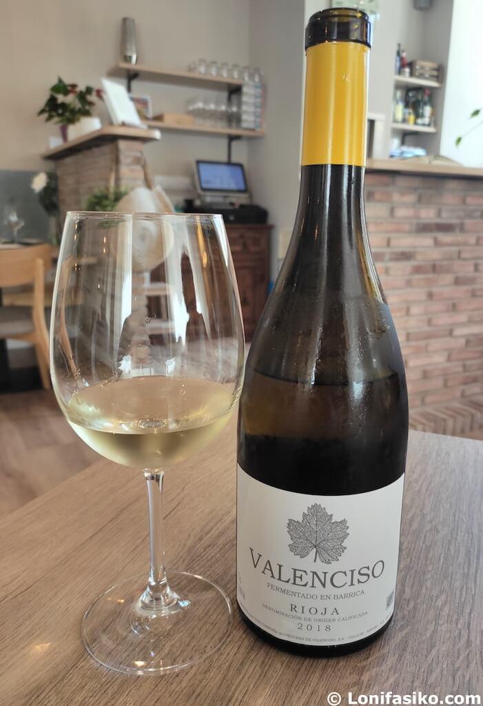 valenciso vino blanco fermentado en barrica