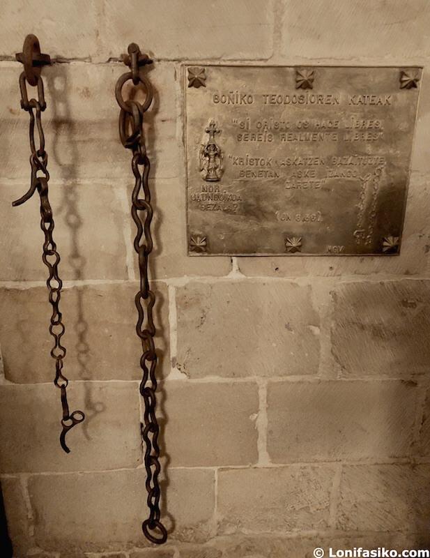 Cadenas Teodosio de Goñi leyenda dragón San Miguel de Aralar