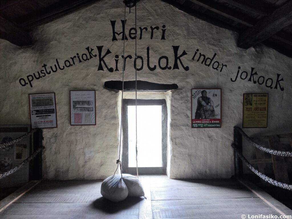 herri kirolak museo iñaki perurena leitza