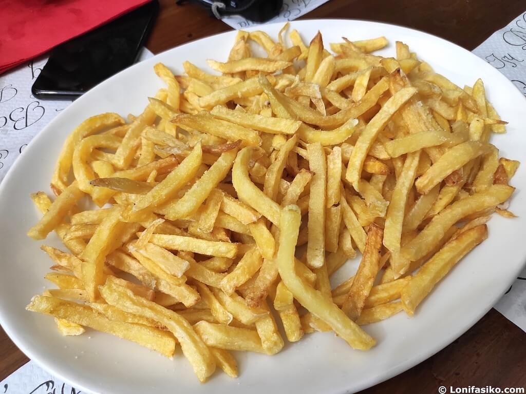 patatas fritas caseras restaurante la basque etxalar