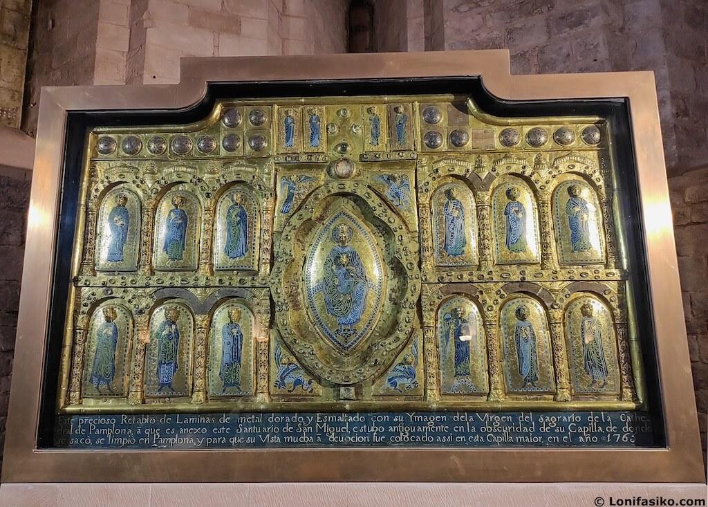 Retablo de San Miguel de Aralar en Navarra