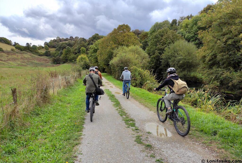 via verde del plazaola en bicicleta navarra