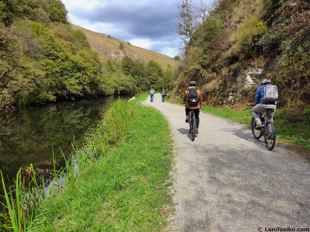 via verde del plazaola navarra en bicicleta