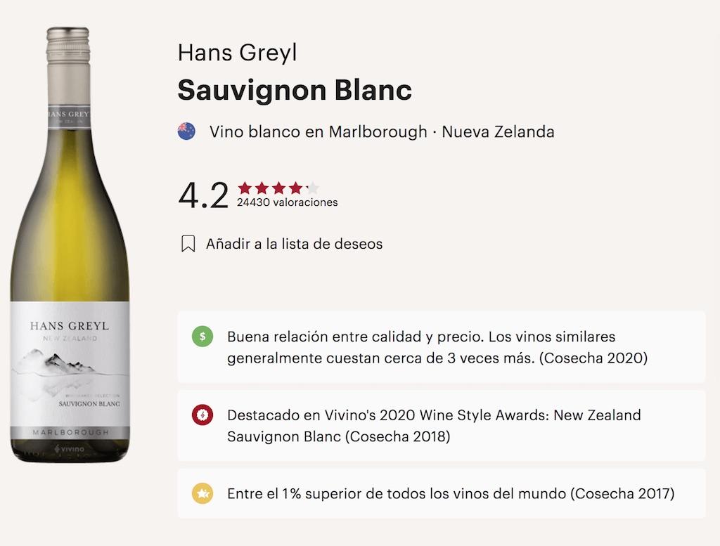 vinos blancos de nueva zelanda en Vivino