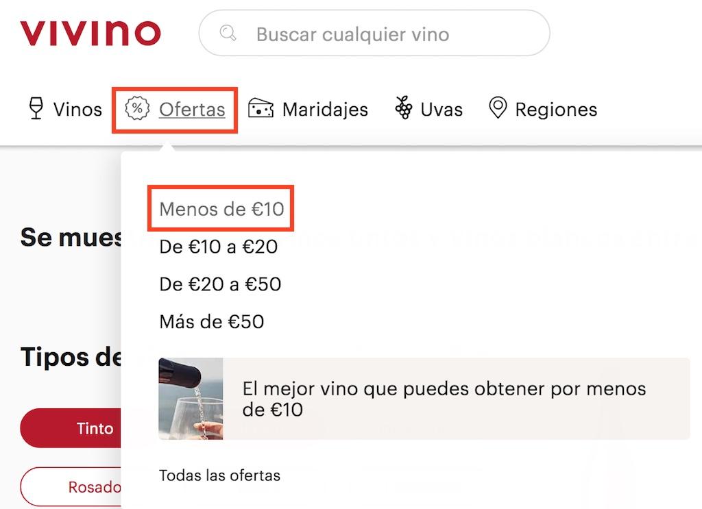 vivino españa ofertas vinos menos 10 euros