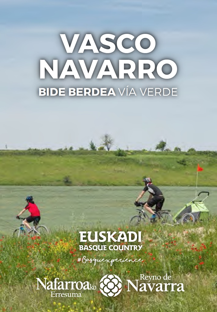 Guía Vía Verde del Vasco-Navarro con mapa