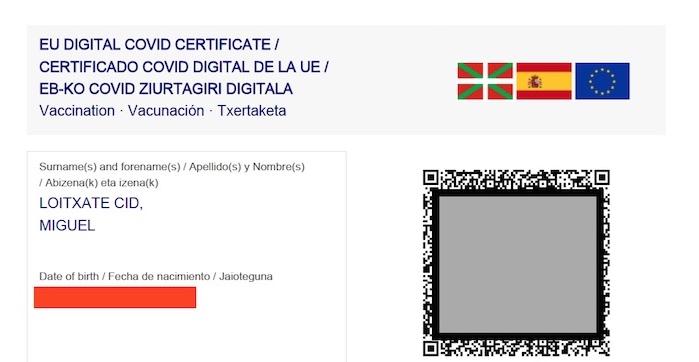 pasaporte covid digital osakidetza